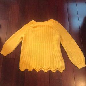 Zara yellow sweater